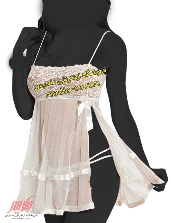 لباس خواب تور و گیپور بغل باز