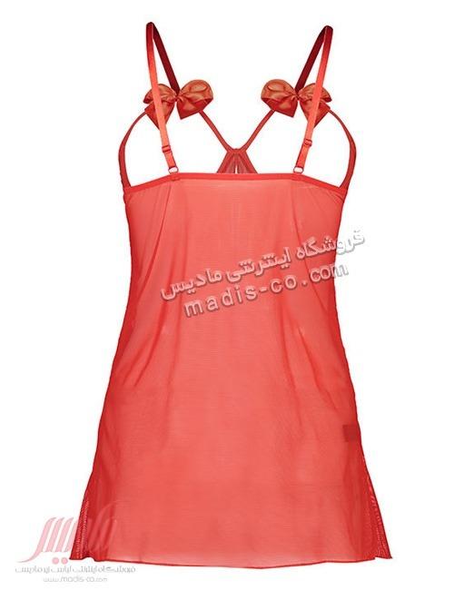 لباس خواب زنانه پاپیونی قرمز Fitan