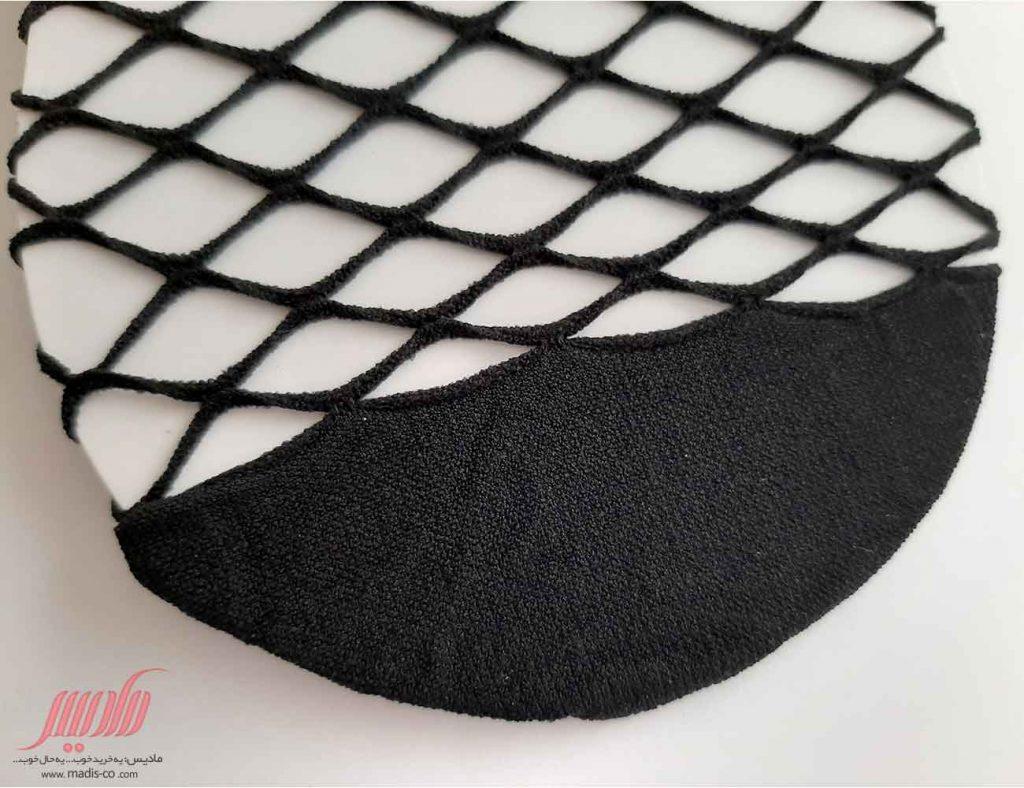 جوراب زنانه زنبوری یک ربع پاپیون دار