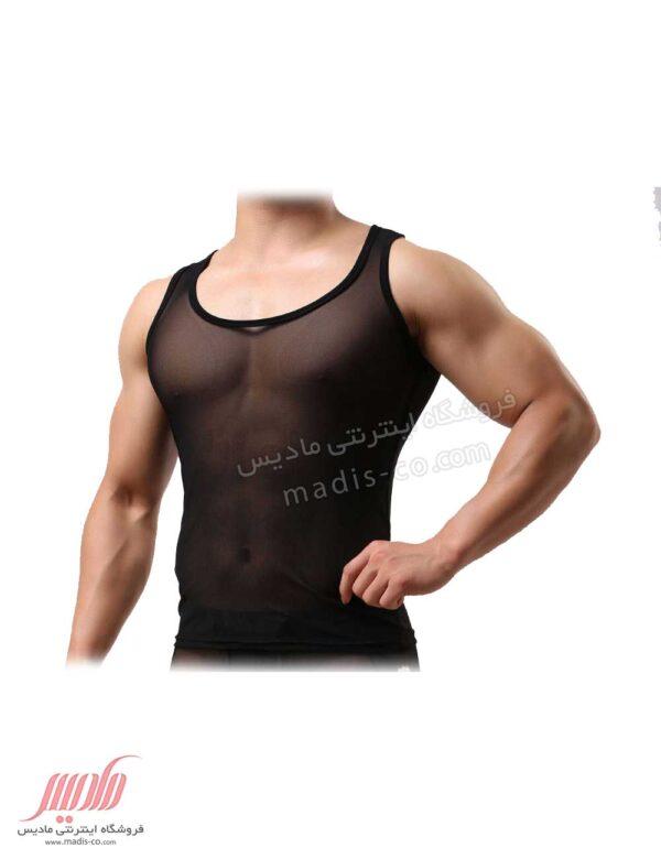 زیرپوش مردانه توری آستین حلقه